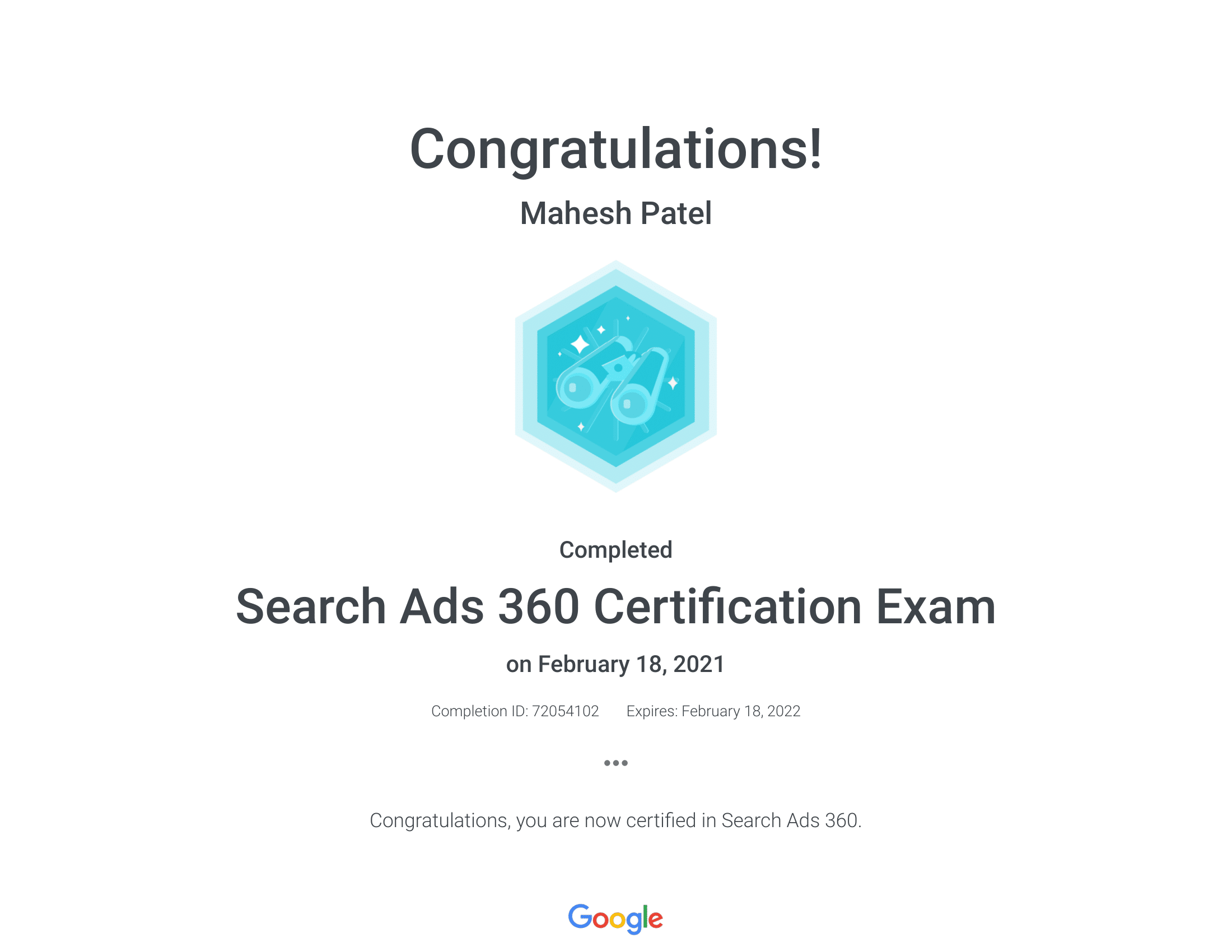Adwords-Search360-Certificate